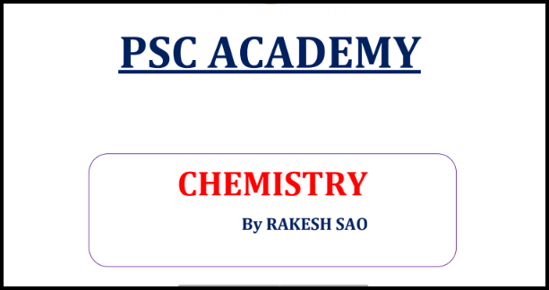 Chemistry General Knowledge Notes PDF By Rakesh Rao in Hindi