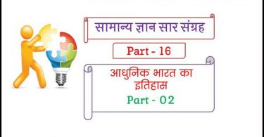 Modern History Questions in Hindi