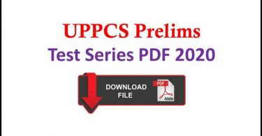 UPPCS Pre Test Series PDF 2020 in Hindi Free Download