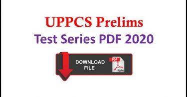 UPPCS Pre Test Series PDF 2020 in Hindi Free Download